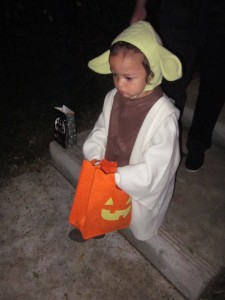 Yoda - Collecting Candy in a Galaxy Far Far Away